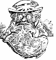 The open door web site history colonisation the scramble for an american cartoon depicting britain taking african territory circa 1900 publicscrutiny Image collections