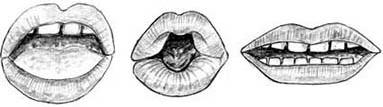 Drawing of lips � Shirley Burchill