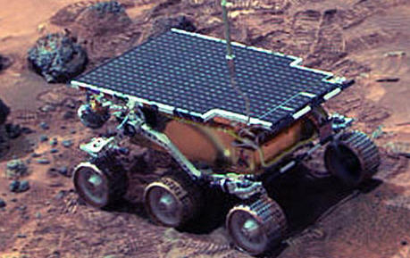 Pathfinder on the Martian surface © NASA