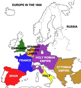 Map Of France 1600.The Open Door Web Site History The Shaping Of Modern Europe